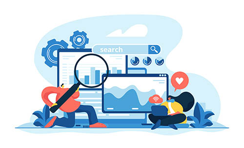 digital marketing and Internet advertisement. Search engines, online marketing and seo tools, search engines optimization concept