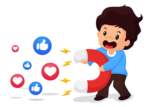 the idea of attracting viewers on social media